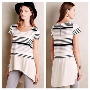 Anthropologie | Deletta Hi-Lo Gradient Striped Top